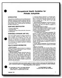 Occupational Health Guideline for Phthal... by Department of Health and Human Services