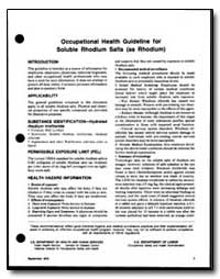 Occupational Health Guideline for Solubl... by Department of Health and Human Services