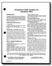Occupational Health Guideline for Amorph... by Department of Health and Human Services