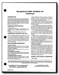 Occupational Health Guideline for Terphe... by Department of Health and Human Services