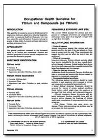 Occupational Health Guideline for Yttriu... by Department of Health and Human Services