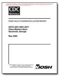 Niosh Health Hazard Evaluation Report : ... by Department of Health and Human Services