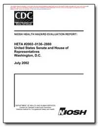 Niosh Health Hazard Evaluation Report by Hall, Ronald M., M. S.