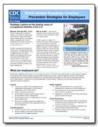 Work-Related Roadway Crashes Prevention ... by Department of Health and Human Services