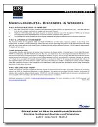 Musculoskeletal Disorders in Workers by Department of Health and Human Services