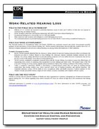Work-Related Hearing Loss by Department of Health and Human Services