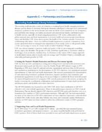 Appendix C — Partnerships and Coordinati... by Department of Health and Human Services