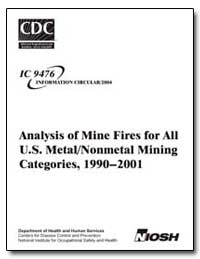 Analysis of Mine Fires for All U. S. Met... by De Rosa, Maria I.