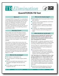 Tb Elimination : Quantiferon-Tb Test by Department of Health and Human Services