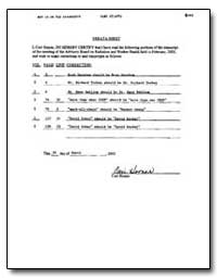 Errata Sheet by Cori Homer by Homer, Cori