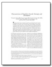 Characteristics of Impulsive Suicide Att... by Simon, Thomas R.