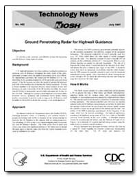 Ground Penetrating Radar for Highwall Gu... by Department of Health and Human Services