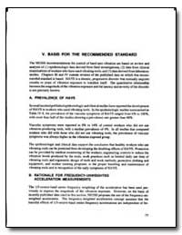 Basis for the Recommended Standard by Department of Health and Human Services
