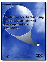 Guidelines for Air Sampling and Analytic... by Kennedy, Eugene R.