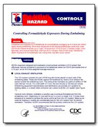 Controlling Formaldehyde Exposures durin... by Department of Health and Human Services