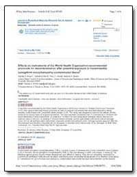 Journal of Biomedical Materials Research... by Department of Health and Human Services