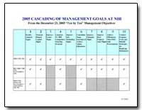 2005 Cascading of Management Goals at Ni... by Department of Health and Human Services