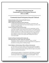 Community-Based Participatory Research, ... by Department of Health and Human Services