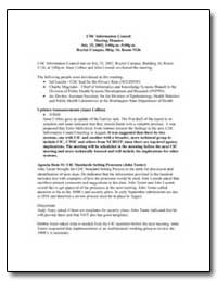 Cdc Information Council Meeting Minutes ... by Department of Health and Human Services