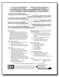 State and Local Area Integrated Telephon... by Department of Health and Human Services