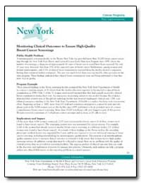 New York : Monitoring Clinical Outcomes ... by Department of Health and Human Services