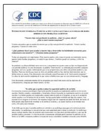 Intervencion Temprana : Comunicacion Y L... by Department of Health and Human Services