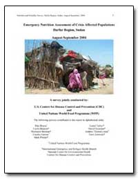 Emergency Nutrition Assessment of Crisis... by Bhatia, Rita