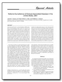 National Surveillance of Dialysis-Associ... by Tokars, Jerome I., M. D., M. P. H.