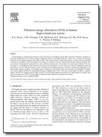 Vibration Energy Absorption (Vea) in Hum... by Dong, R. G.