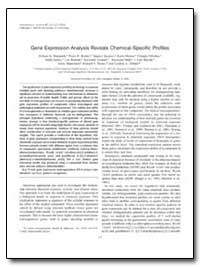 Gene Expression Analysis Reveals Chemica... by Hamadeh, Hisham K.