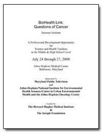 Biohealth Link : Questions of Cancer by Department of Health and Human Services