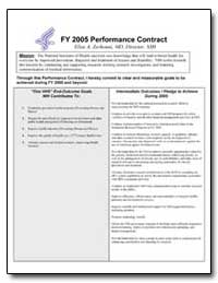 Through This Performance Contract, I Her... by Zerhouni, Elias A., M. D.