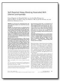 Self-Reported Heavy Bleeding Associated ... by Wegienka, Ganesa