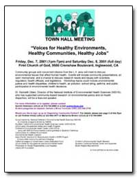 Town Hall Meeting : Voices for Healthy E... by Department of Health and Human Services