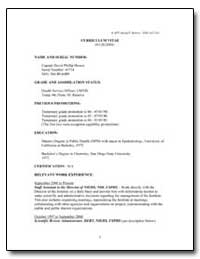 Curriculum Vitae of Captain David Philli... by Department of Health and Human Services