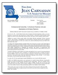 Carnahan Authors Bill to Increase Fundin... by Department of Health and Human Services
