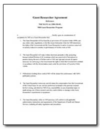 Guest Researcher Agreement Reference : N... by Department of Health and Human Services