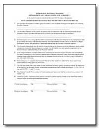 Intramural Material Transfer Memorandum ... by Department of Health and Human Services
