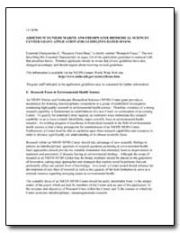 Addendum to Niehs Marine and Freshwater ... by Department of Health and Human Services