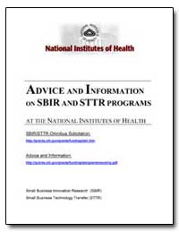 Advice and Information on Sbir and Sttr ... by Department of Health and Human Services