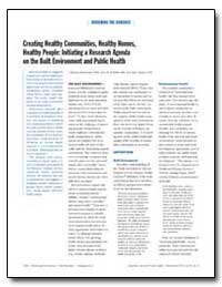 Creating Healthy Communities, Healthy Ho... by Dearry, Allen