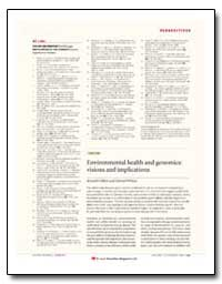 Perspectives Editorial by Department of Health and Human Services