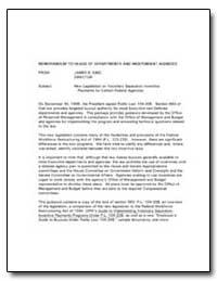 New Legislation on Voluntary Separation ... by King, James B.