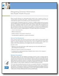 Integrating Genomic Information into Pub... by Department of Health and Human Services