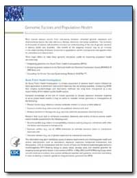 Genomic Factors and Population Health by Department of Health and Human Services