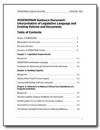 Wisewoman Guidance Document : Interpreta... by Department of Health and Human Services