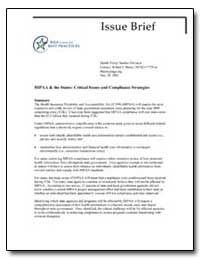 Issue Brief : Hipaa and the States : Cri... by Department of Health and Human Services