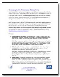 Developing Healthy Relationships : Talki... by Department of Health and Human Services