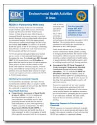 Environmental Health Activities in Iowa by Department of Health and Human Services