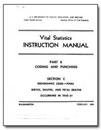 Vital Statistics Instruction Manual by Department of Health and Human Services